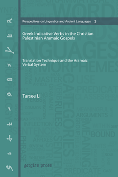 Picture of Greek Indicative Verbs in the Christian Palestinian Aramaic Gospels