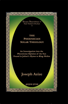 Picture of The Phoenician Solar Theology (Hardcover)