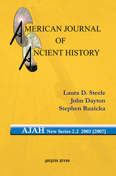 Picture of American Journal of Ancient History (New Series 2.2, 2003 [2007])
