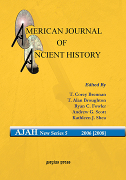 Picture of American Journal of Ancient History (New Series 5, 2006 [2008])