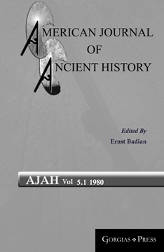 Picture of American Journal of Ancient History 5.1