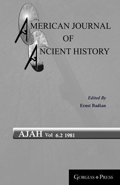 Picture of American Journal of Ancient History 6.2