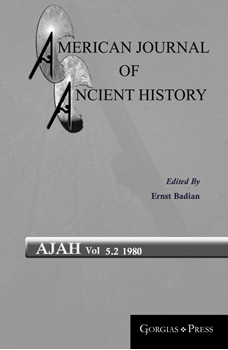 Picture For American Journal of Ancient History Series and Journal
