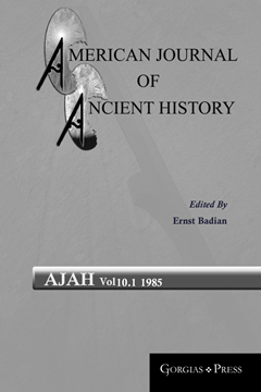 Picture of American Journal of Ancient History 10.1