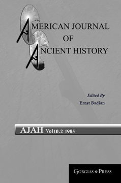 Picture of American Journal of Ancient History 10.2