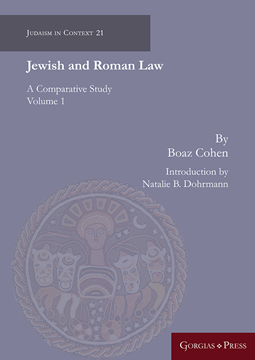 Picture of Jewish and Roman Law (volume 1)
